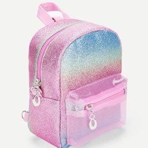 Small Rainbow Glitter Backpack